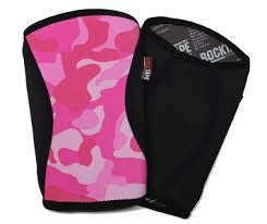 Rocktape Pink camo knee caps
