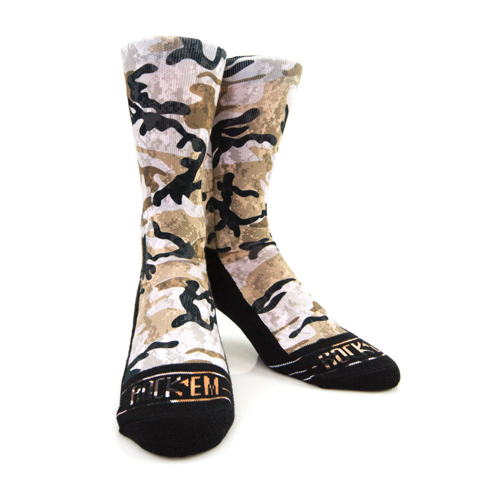 Rock 'Em Apparel Armored Camo Socks