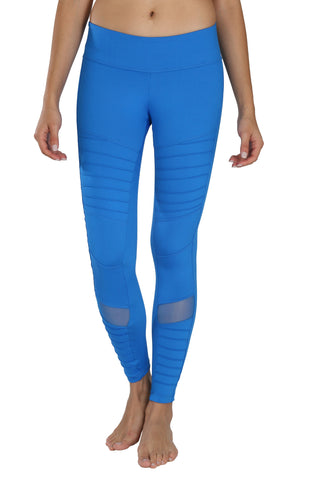 Sadhana Moto Mesh Leggings (Blue)