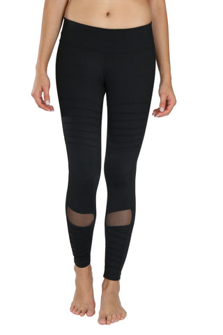 Sadhana Moto Mesh Leggings (Black)