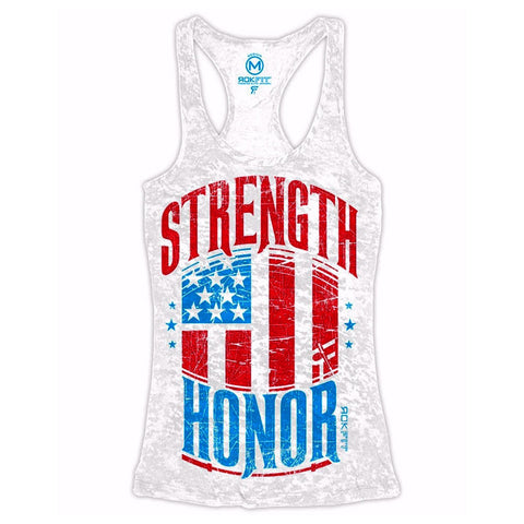 RoKFit Ladies Strength & Honor WOD Tank