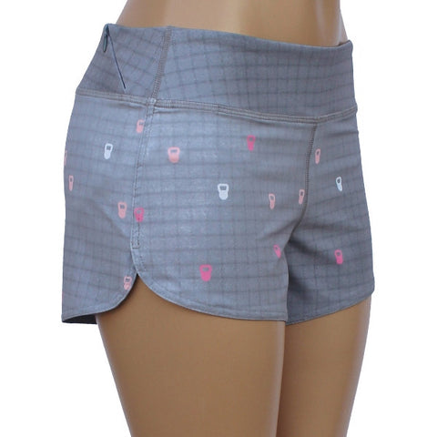 Glow Girl Power Short Kettlebell Grey