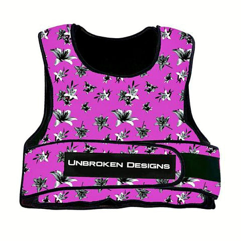 Unbroken Design Deep Pink Lily 20LB Weight Vest