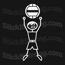 Stick it Strong Wall Ball Man CrossFit Bumper Sticker
