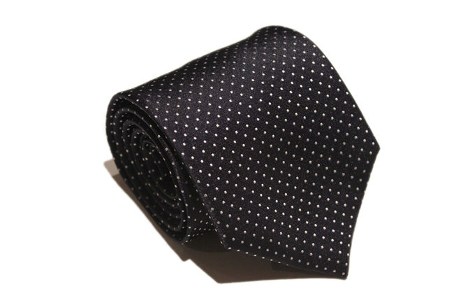 Tie - Navy and White Dot