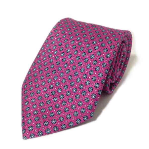 Classic Italian Tie - Pink and Blue Floral