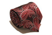 Load image into Gallery viewer, Tie - Red and Burgundy Paisley