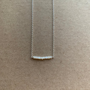 Lustre Bar Necklace | Silver