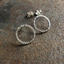 Load image into Gallery viewer, Silver New Moon Studs