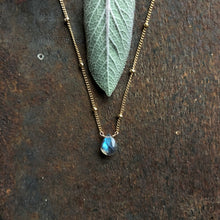 Load image into Gallery viewer, Labradorite - Linnaea Necklace