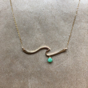 Tofino Wave Necklace | Gold-Fill