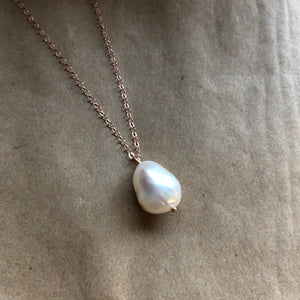 Baroque Pearl Necklace | Rose Gold