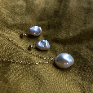 Baroque Pearl Necklace | Gold