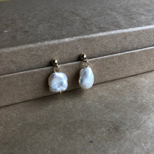 Load image into Gallery viewer, Baroque Pearl Earrings | Gold