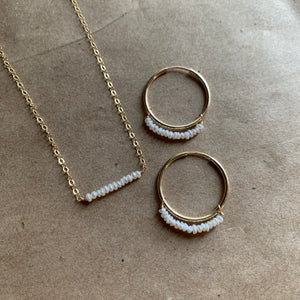 Lustre Bar Necklace | Gold