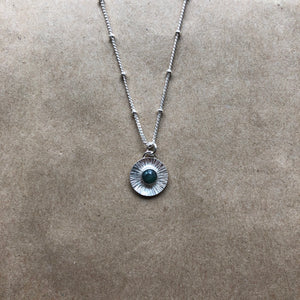 Silver Soleil Necklace | Emerald