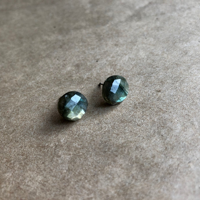 High-Cut Labradorite Studs