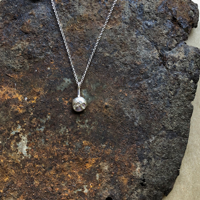 Molten Sphere Necklace | Silver