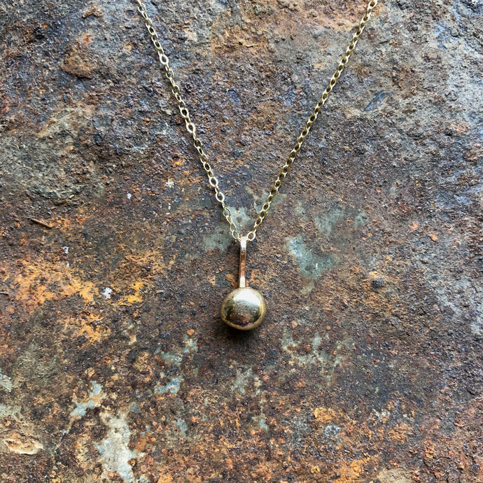 Molten Sphere Necklace | Gold & Bronze