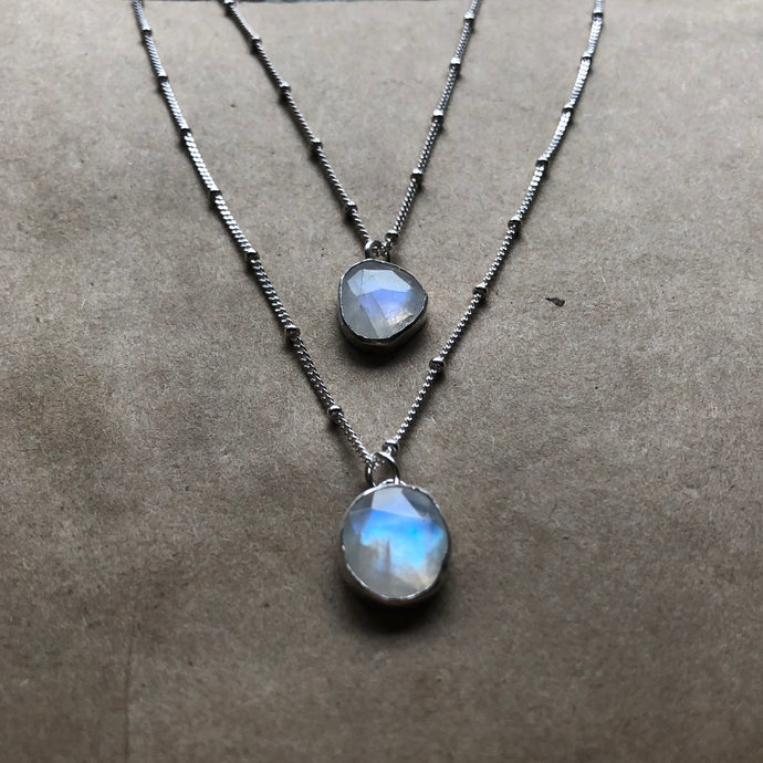 Freedom Necklace | Rainbow Moonstone