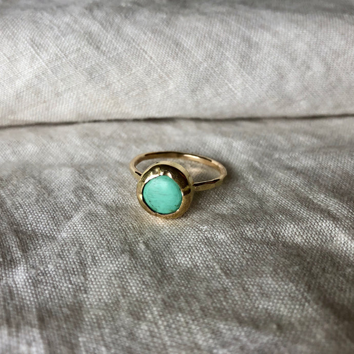Sacred Sea Ring | Turquoise & Gold | 8.25, 8.5, 8.75 or 9