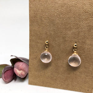 Rose Quartz - Linnaea Earrings