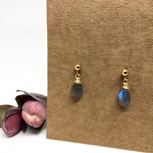 Labradorite - Linnaea Earrings