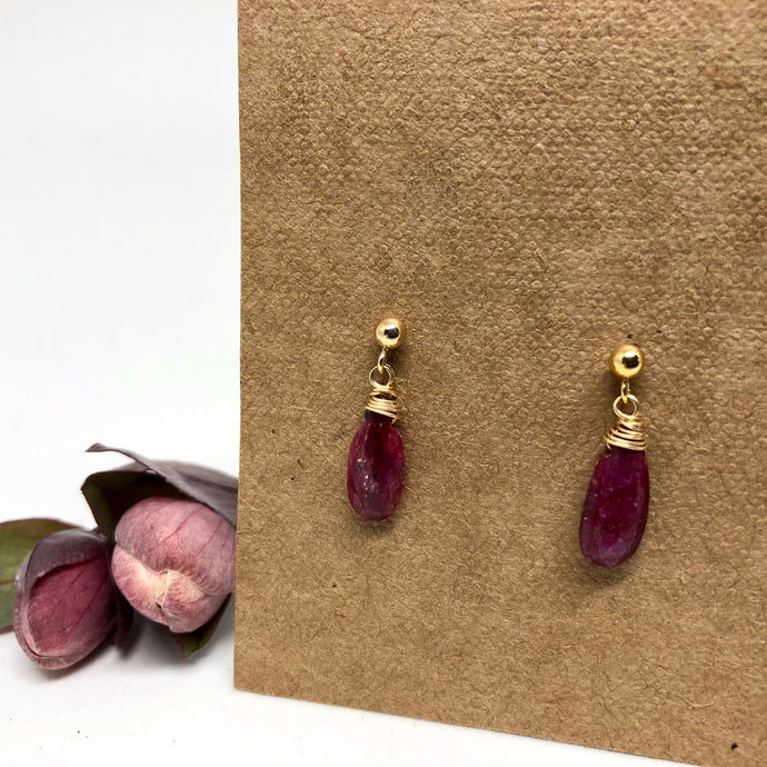Ruby - Linnaea Earrings