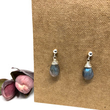 Load image into Gallery viewer, Labradorite - Linnaea Earrings