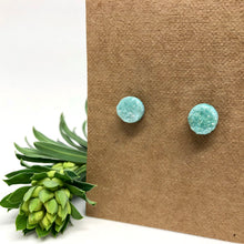Load image into Gallery viewer, Seafoam Druzy Studs