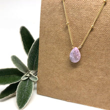 Load image into Gallery viewer, Pink Sapphire - Linnaea Necklace