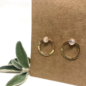 Rainbow Moonstone - Jupiter Studs