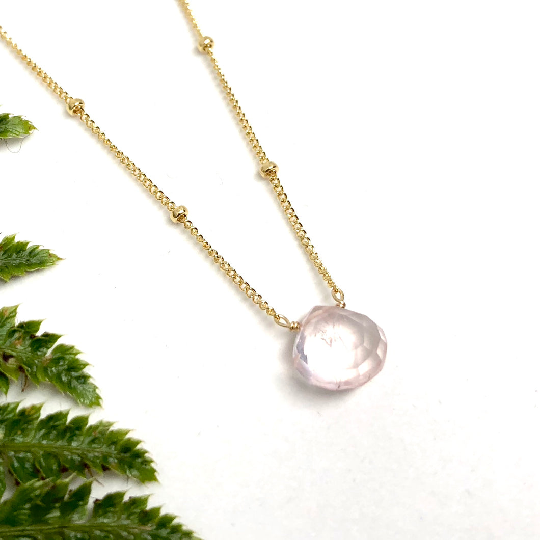 Rose Quartz - Linnaea Necklace