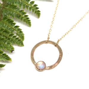 Rainbow Moonstone - Jupiter Necklace