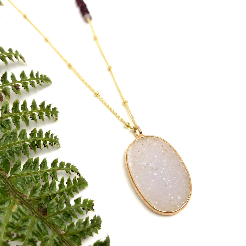 Gold Queen Druzy Amulets