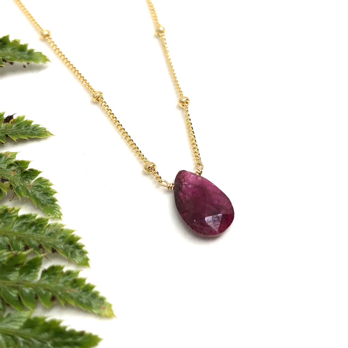 Ruby - Linnaea Necklace