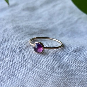 Birthstone Ring - February | Amethyst