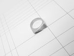 FACET RING 1.2.SILVER