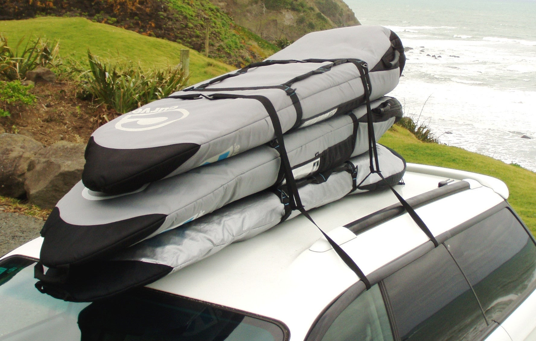 double rack carrier action up board single paddle lock car sup strapless multi stand locking