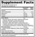 Optimum Nutrition Amino Energy plus Electrolytes fact