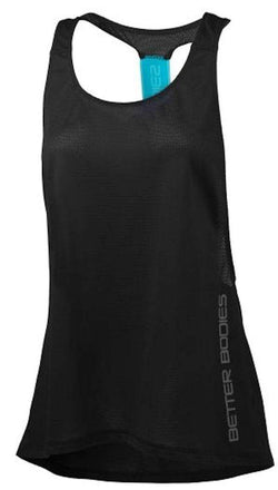 Better Bodies Women's Athlete Mesh Tank Black/Turquoise