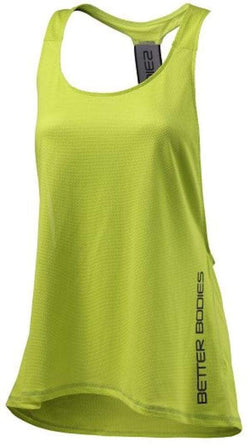 Better Bodies Women's Athlete Mesh Tank Lime (Discontinue Limited Supply)