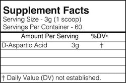 BlackMarket Labs D-Aspartic Acid Raw 60 servings