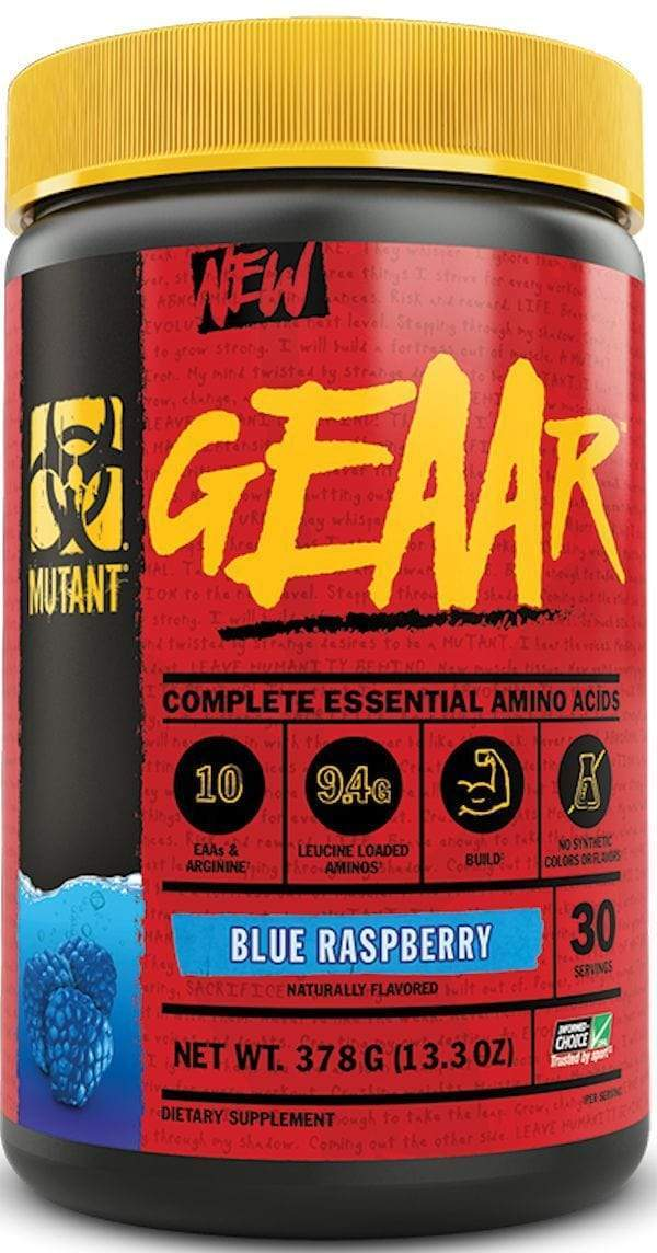 Mutant geaar bcaa Blue Raspberry Mutant Nutrition Geaar 30 servings