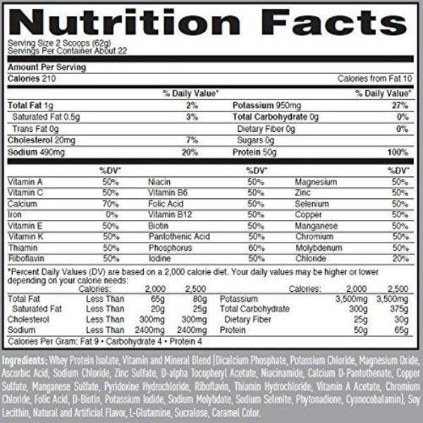 Nature's Best Protein Chocolate Peanut Butter Isopure Nature's Best Zero/Low Carb 3lbs.