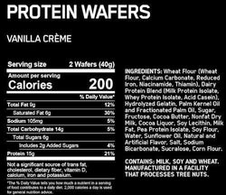 Optimum Nutrition Protein Wafers 9 ct box