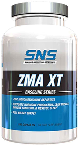 SNS Serious Nutrition Solutions ZMA XT 180 caps.