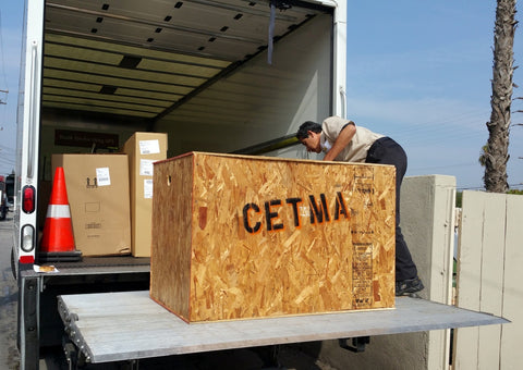 CETMA cargo bike crate shipping.