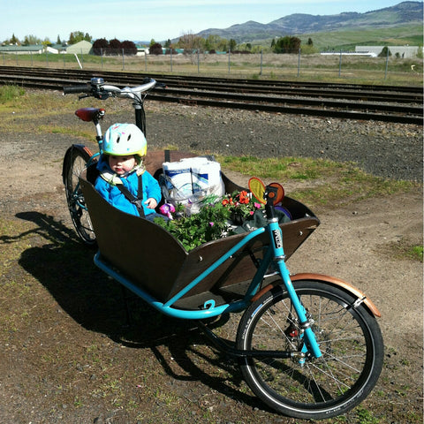 CETMA cargo bike in Portland, Oregon.