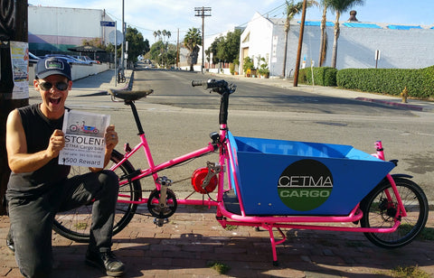 Stolen CETMA Cargo bike found.